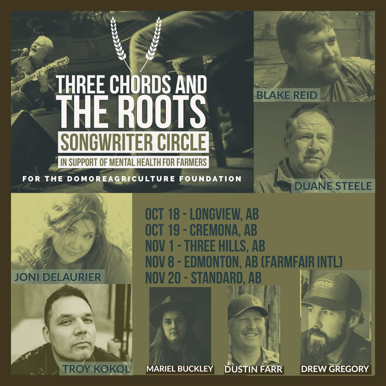 Three Chords and the Roots Songwriter Circle in Support of Mental Health For Farmers - Nov 8